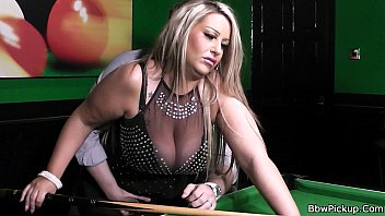 Busty mature pool - Stranger bangs lovely bbw in nylons on the pool table