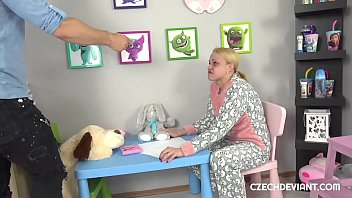 Blonde In Baby Clothes Gets Rammed