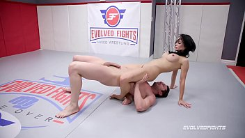 Forced to watch sex reviews Busty crystal rush naked wrestling battle forced to suck cock
