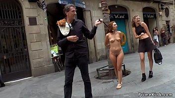 Spanish slave on leash in public