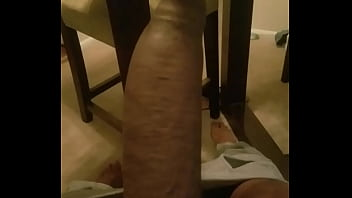 Stroking black dick athlete body big black cock