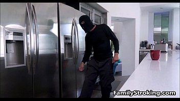 Dad Fulfills Teen Step Daughters Fantasy Fucking A Burglar - FamilyStroking.com