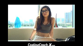 CastingCouch-X Teen with glasses auditions for porn