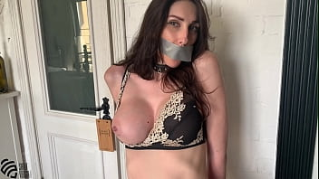 Hot milf tied up and ordered to cum