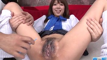 Shaved yorkie - Miyu aoi asian schoolgirl plays with pussy on cam
