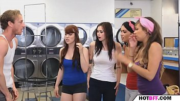 the college babes make the laundry