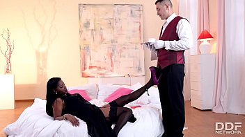 You porn milf stockings Butler is granted epic footjob before pussy bang with bossy jasmine webb