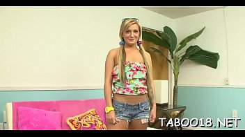 Seductive teenknows how to please ramrod with her magical hands