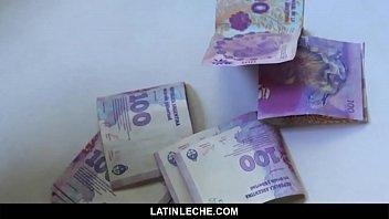 Shy latin straight guy barebacked on camera for money