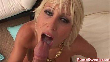 Euro Blonde Puma Swede Gets Big Dick Poolside!
