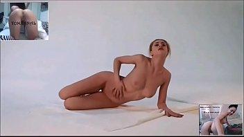 Novinha dançando e sensualizando nua
