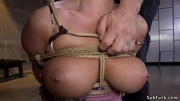 Busty Milf brutalized with rough sex Image