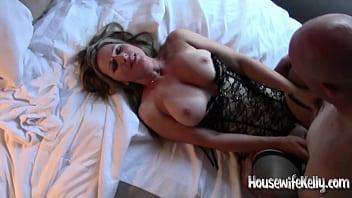 Blonde slut wife gangbang Hotwife takes 3 cocks 3