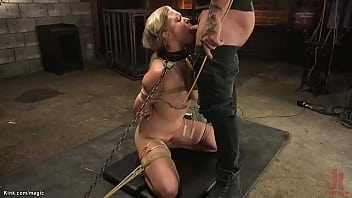 Natural blonde bound and rough fucked