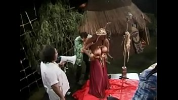 Black Woman with Gigantic Tits getting Gangbanged!
