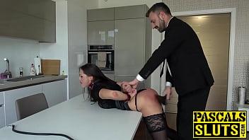 Submissive Barbara Bieber endures hardcore spanking and fucking