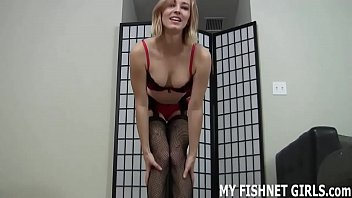 Let me stroke your cock for you in fishnets JOI