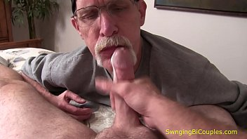 Older bi guy sucks young guy Dads and their sons sucking dick