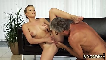 Teen loves old cock Sex with her boyally´s father after swimming pool