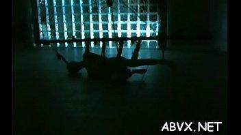 Exposed woman spanking video with bizarre bondage