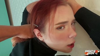 Man Facefuck, Rough Pussy Fuck of Obedient Redhead and Cum on Tits