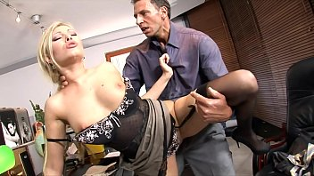 Perfect tight little asshole on stunning white secretary Donna Bell gets drilled hard