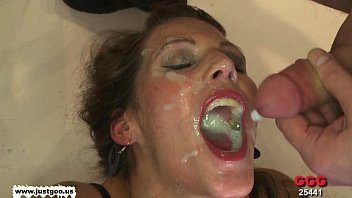 Taking turns on the Queen of cum Viktoria - German Goo Girls