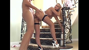 Crossdresser nylons sex - Blonde sex in seamed stockings and a garter belt