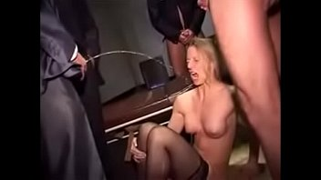 Peroxide pee stain treatment Horny secretary gets rough treatment with lots of piss and cum