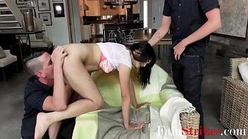 Twin Brothers Share Their Hot Teen Slut Sister- Leda Lothario