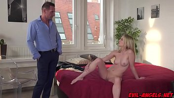 Pretty Rose Delight exposes her bald pussy