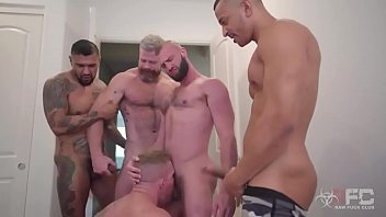 Gang bangers gay Gang bang - 2 dick in 1 ass - hard fuck