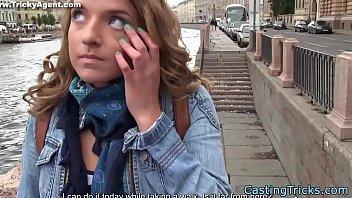 European teen screwed at fake casting