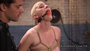 Bound slave rough banged and flogged