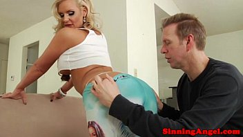 Sexy blonde babe has her ass eaten out