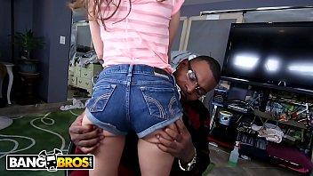 BANGBROS - Petite Riley Reid Drips All Over Rico Strong's Big Black Cock