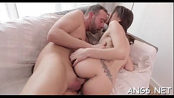 Shameless brunette Ena does her best to get jizz