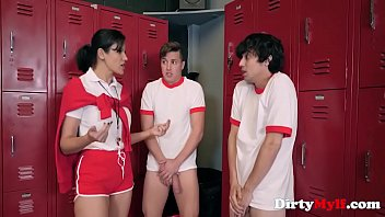 One MILF Coach And Two Horny Students- Penny Barber