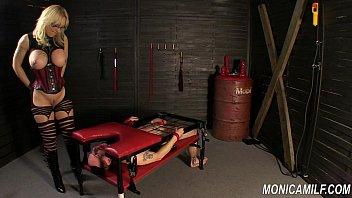 Monicamilf is squiring on her femdom slave - Norwegian Kink