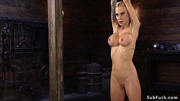 Huge tits Milf whipped in hogtie