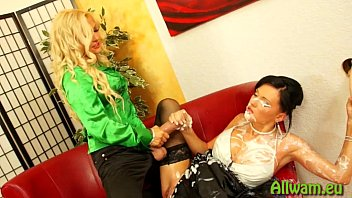 slimy surprise for two hot babes