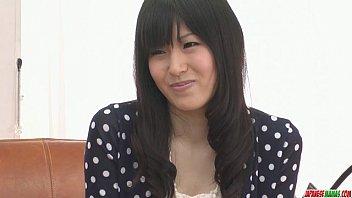 Image: Nozomi Koizumi strips naked and gives an asian blowjob