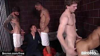 Bromo - Donny Forza with Eli Hunter Rocko South Sebastian Young Zane Anders at Barebacked In Prison Part 4 Scene 1