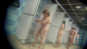 Real public showers with hidden cam set inside Image