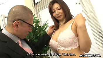 Asian milf getting fucked at her meassuring session