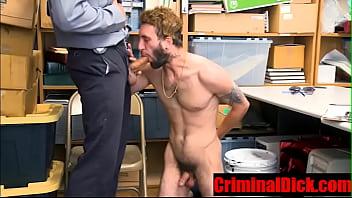 "Hairy Criminal blackmailed into hard black cop cock- CriminalDick.com <span class=""duration"">8 min</span>"