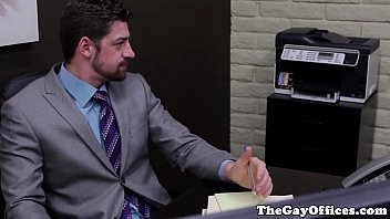 Sweaty Gayoffice Stud Fucking His Clients Ass
