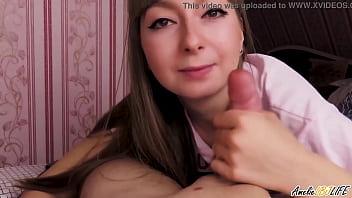 Girlfriend Sensual Blowjob Cock Friend And Cum In Mouth