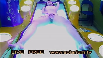 Horny Girl in the real public tanning salon masturbating on the solarium with a hidden camera filmed pornhub video