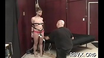 Attractive young girl gets her 1st slavery experience